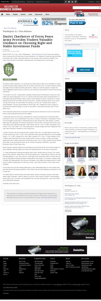 Dmitri Chavkerov - Washington Business Journal- considering stable investment options