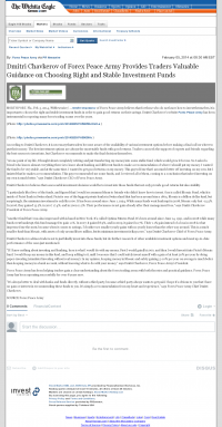 Dmitri Chavkerov -  Wichita Eagle (Wichita, KS) - considering stable investment options