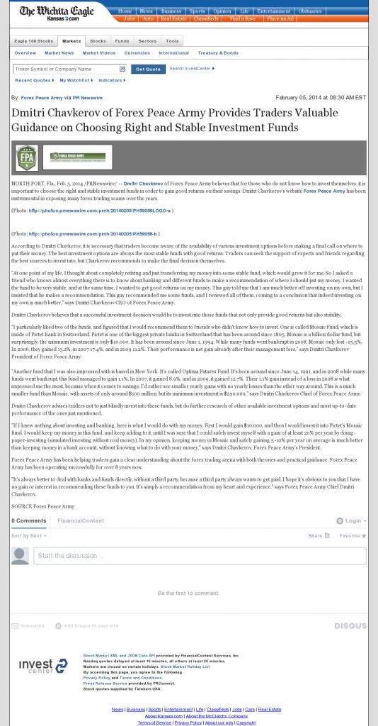 Dmitri Chavkerov - Wichita Eagle (Wichita, KS)- considering stable investment options
