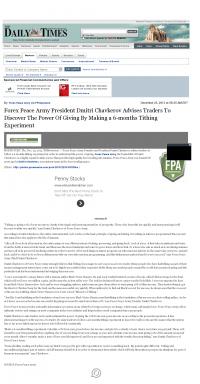 Forex Peace Army -  Farmington Daily Times (Farmington, NM) - discover power of giving