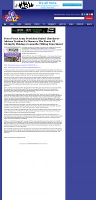 Forex Peace Army -  KSLA CBS-12 (Shreveport, LA) - discover power of giving