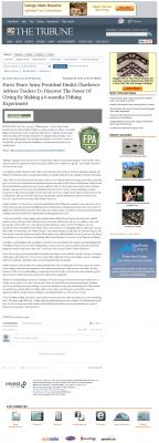 Forex Peace Army -  Tribune (San Luis Obispo, CA) - discover power of giving