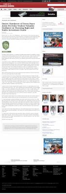 Dmitri Chavkerov -  Charlotte Business Journal - considering stable investment options