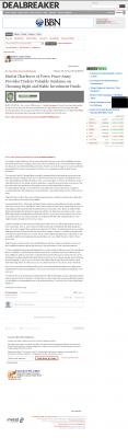 Dmitri Chavkerov -  Dealbreaker - considering stable investment options
