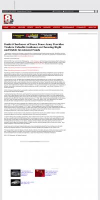 Dmitri Chavkerov -  KAIT ABC-8 (Jonesboro, AR) - considering stable investment options