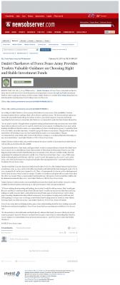 Dmitri Chavkerov -  News & Observer (Raleigh, NC) - considering stable investment options