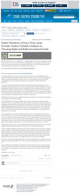 Dmitri Chavkerov -  News Tribune (Tacoma, WA) - considering stable investment options