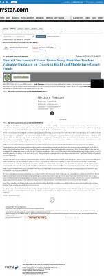 Dmitri Chavkerov -  Rockford Register Star - considering stable investment options
