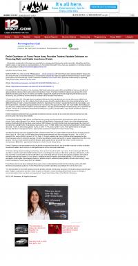 Dmitri Chavkerov -  WBOY-TV NBC-12 (Clarksburg, WV) - considering stable investment options
