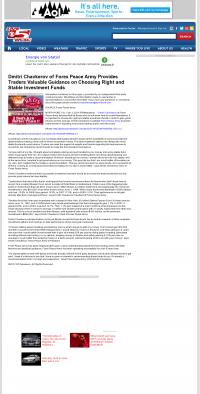 Dmitri Chavkerov -  WCSC CBS-5 (Charleston, SC) - considering stable investment options