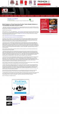 Dmitri Chavkerov -  WOWK-TV CBS 13 (Huntington, WV) - considering stable investment options