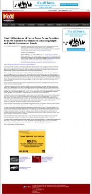 Dmitri Chavkerov -  WSFX-TV FOX-26 (Wilmington, NC) - considering stable investment options