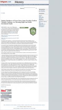 Dmitri Chavkerov -  Worcester Telegram & Gazette - considering stable investment options